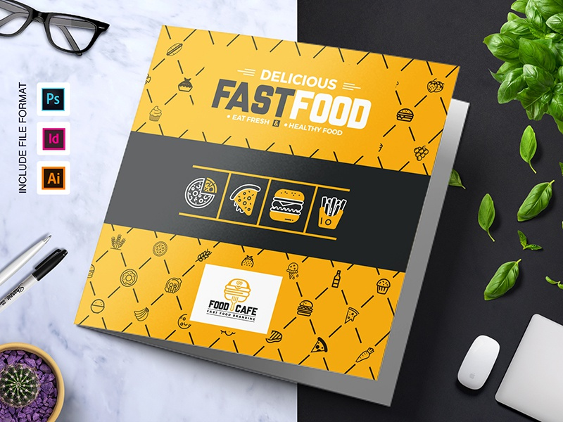 Fast Food Tri Fold Brochure Template By Contestdesign Dribbble