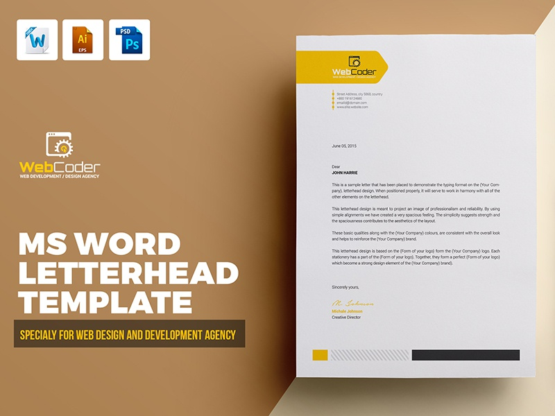 letterhead template by contestdesign dribbble