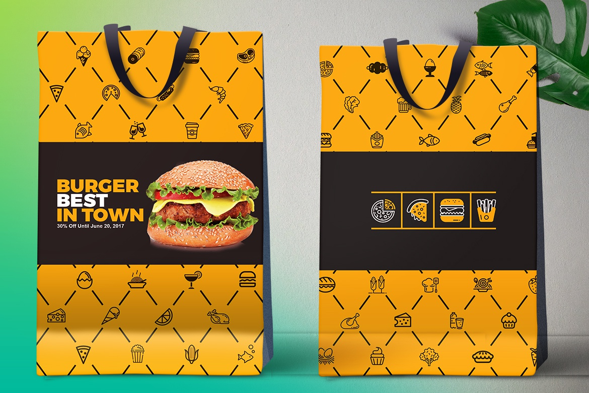 Dribbble 06shopping Bag Packaging Pack Design Template Free
