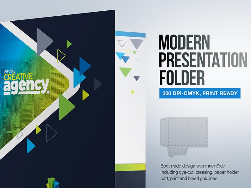 modern presentation folder template by contestdesign dribbble