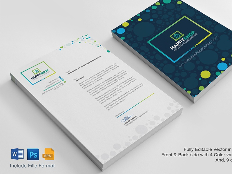 ms word letterhead template by contestdesign dribbble dribbble