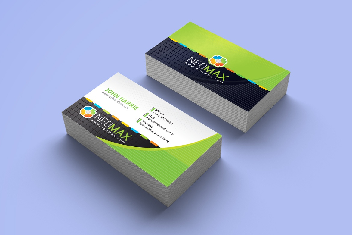 Contestdesign projects corporate business card templates dribbble 03 business card lime green reheart Choice Image