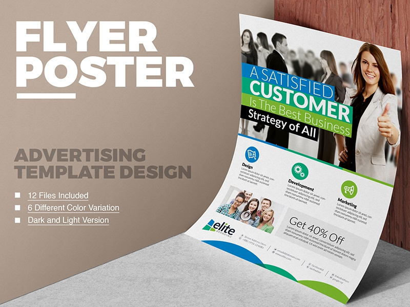 01 corporate business flyer design template avdertising poster template