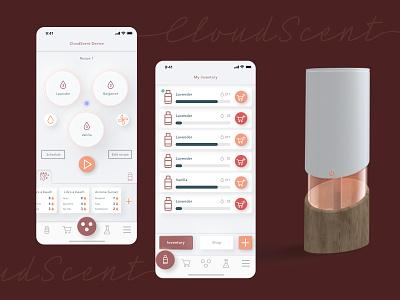 Aroma diffuser app ios app ios uidesigner uxdesigner uidesign uiuxdesign uiux ui app aromatherapy