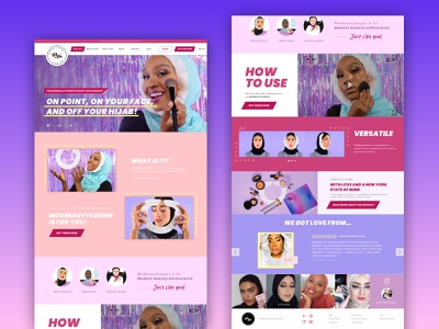 Beauty product website web designer webdesignagency uidesign beauty product e-commerce shop ecommerce ecommerce design landing page webdesign ux ui