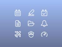Aviation Dashboard Icons Set