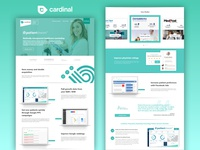 Landing page for healthcare marketing agency