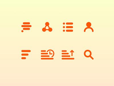 Minimalistic set of icons icon minimalistic ui iconography icons set icons