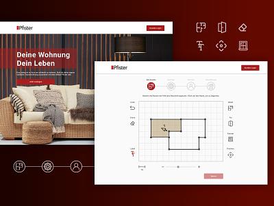 Interior Deign store web app web design ux ui floorplan web app webapp webapp design web webdesign
