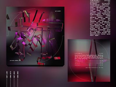 Album cover with 3d Japan hieroglyph cyberpunk cinema4d hieroglyph japan artwork cover music