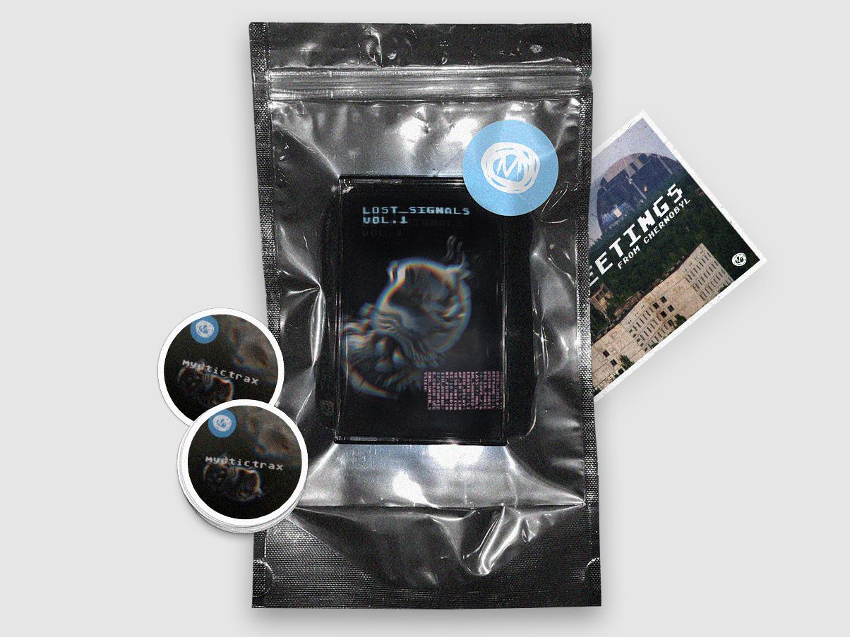 Music Tape design chernobyl space matrix techno postcard stickers doypack music tape