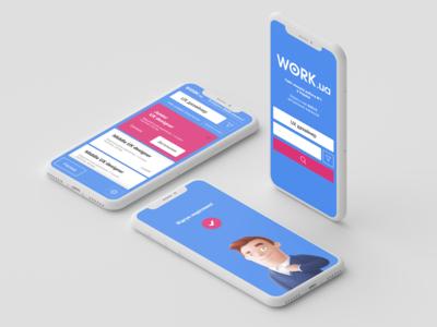 work.ua app concept