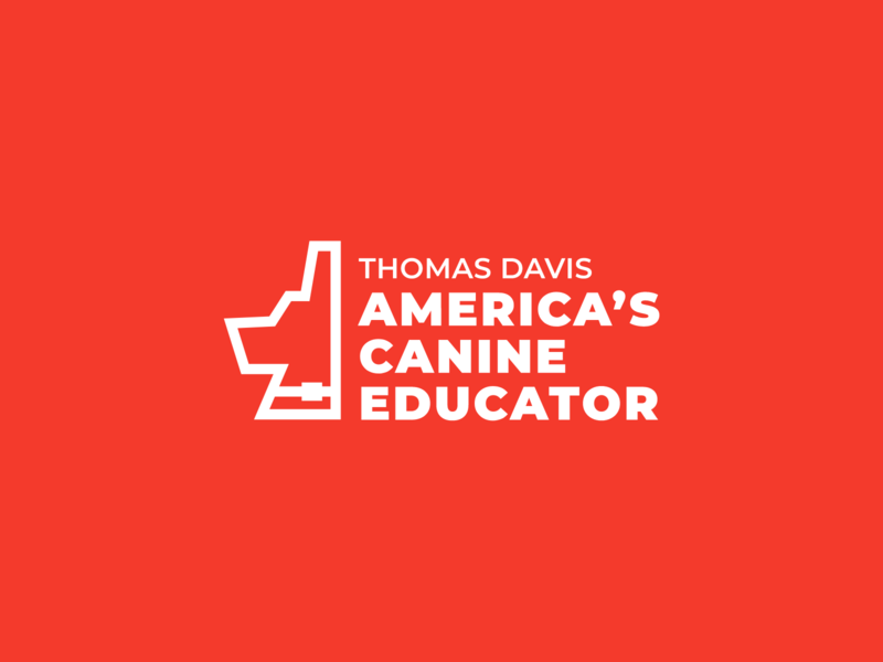 America's Canine Educator Logo educator canine america red apparel logo dog logo dog training dog branding logo