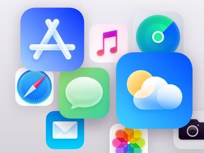 iOS14 GUI logo gui phone illustration illustrator app design ui icon ios14 ios