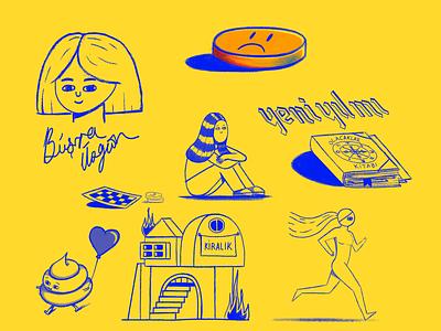 doodle character design doodle illustration