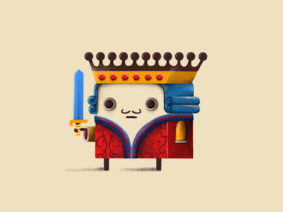 King game design king illustration character app concept