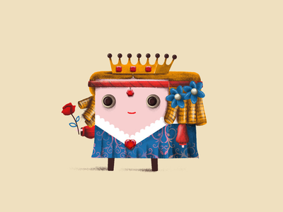 Queen style frame game art character design character illustration
