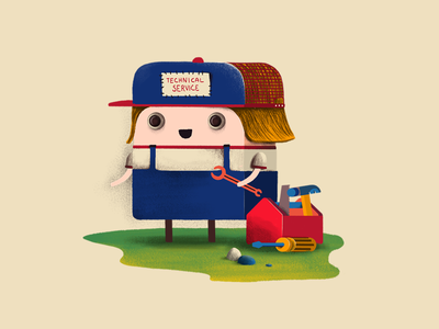 Technical Service style frame technical game art character design character illustration