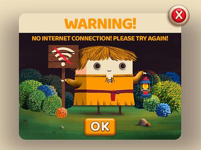 No Internet style frame game art popup character design ui illustration