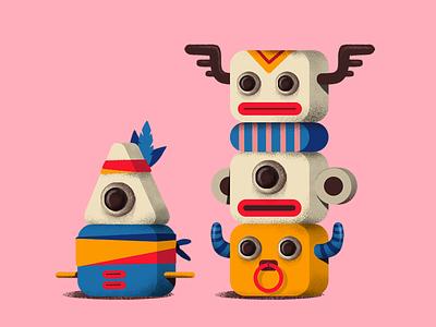 Totem game art character design illustration totem pole icon maya sign totem