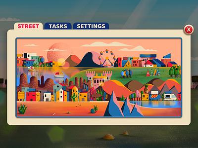 Popup background app mobilegame ui popup illustration city