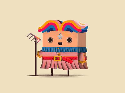 Shaman illustration game design character design character shaman