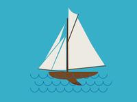 Color Sailboat