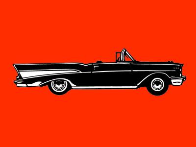 57 Chevy Bel Air on Orange