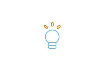 Just a simple idea icon idea lamp flat argentina