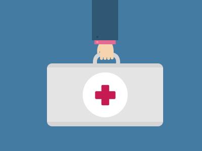 Doctor briefcase briefcase doctor flat icon illustration medical hospital