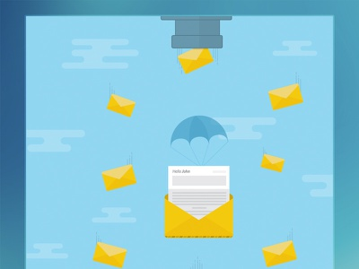 Personalized Emails envelope clouds email parachute sky aerolab argentina