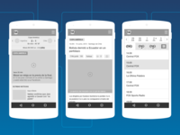Mobile wireframes - FOX Sports Latam