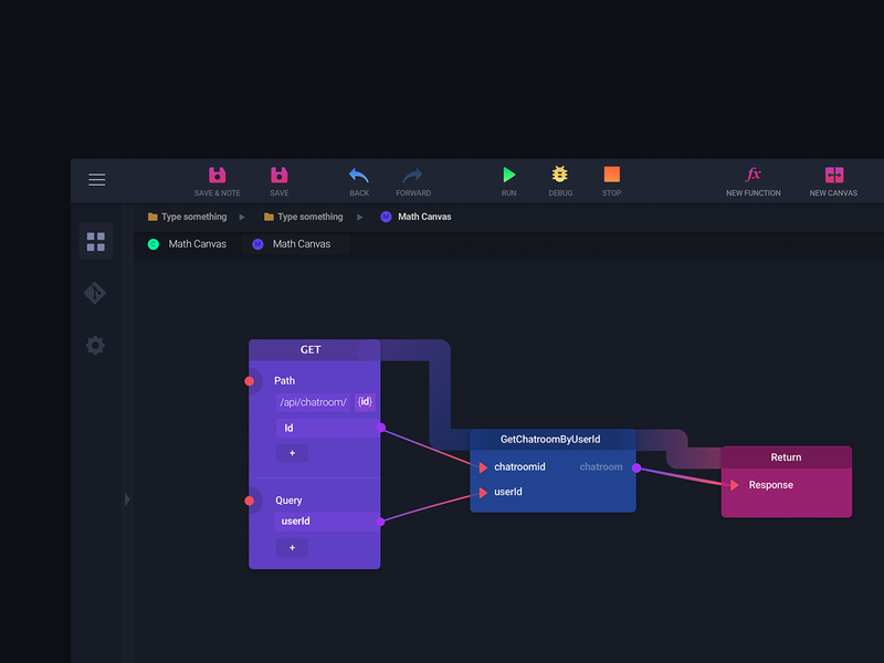Visual scripting system design by Evy on Dribbble
