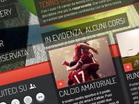 Interface Design: Sport Center