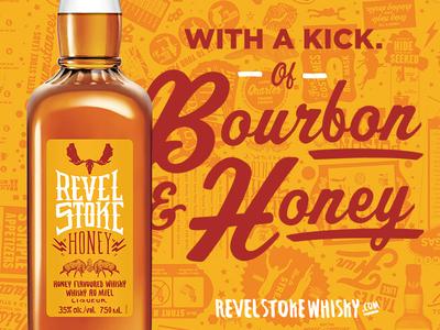 Revel Stoke Honey Whisky Label
