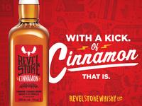 Revel Stoke Cinnamon Whisky Label