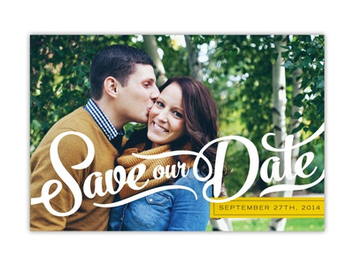 Save our Date Front