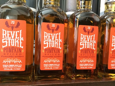 Revel Stoke Pumpkin Whisky Labels label proof flavor liquor alcohol cocktail spice pumpkin bourbon whisky revel stoke
