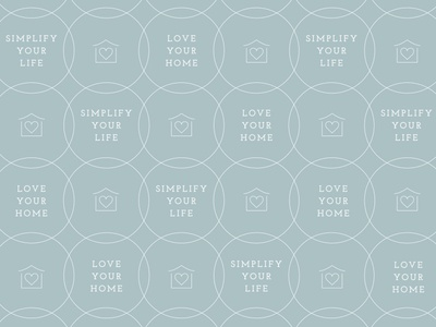 Patternwork for Ordinato graphic design design home icon heart illustration house patternwork pattern