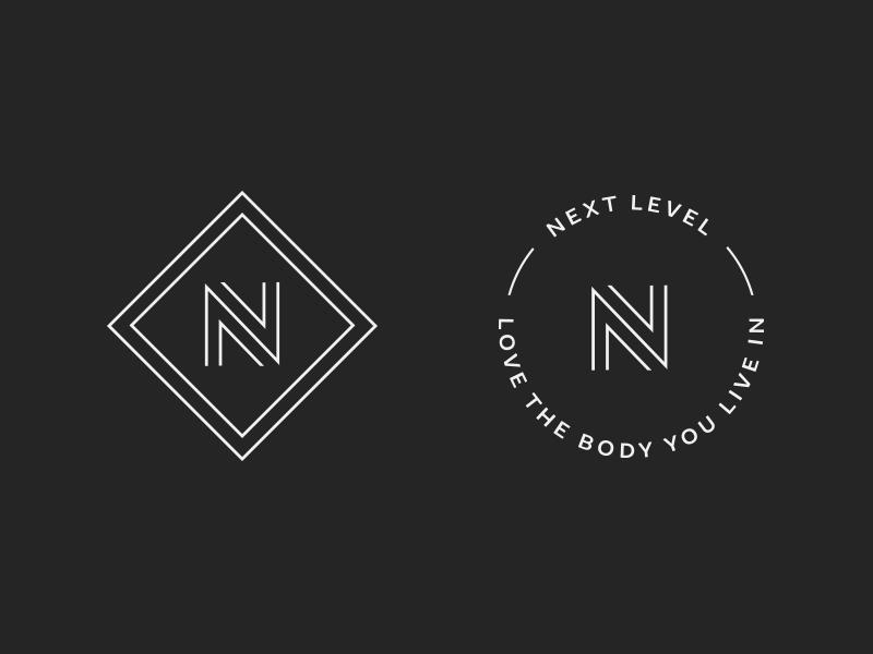 Next Level Marks brand mark wellness health gym nutrition coach fitness nutrition n logo logo design logo