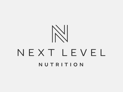 Next Level Nutrition Logo healthy trainer coach fitness nutrition next level n branding logo design logo