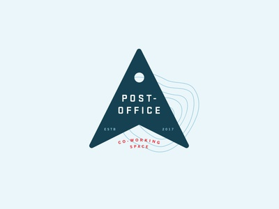 Post-Office Logo water space working co-working travel maps topography location branding logo design logo