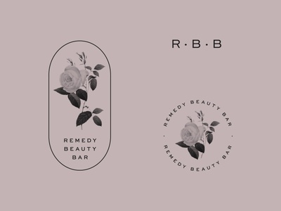 Remedy Marks leaves clean green beauty shop beauty floral rose mark logo design logo