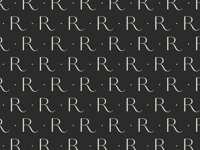 Remedy Pattern green clean typography type patternwork custom letter r pattern remedy