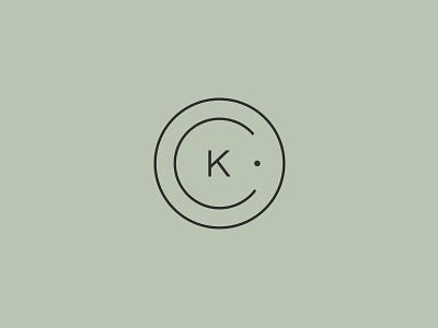 CK Monogram monogram mark typography custom branding logo design logo