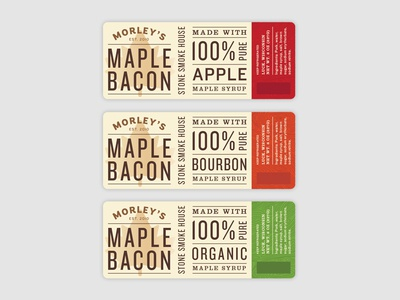 Morley's Maple Bacon wisconsin organic packaging package label food grocery bacon maple maple syrup