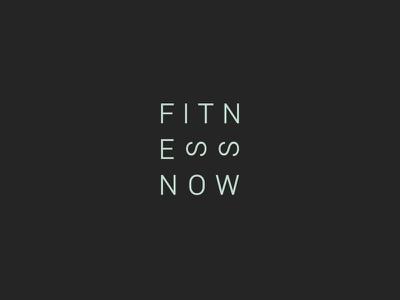 Fitness Now Logo wellness fit health gym fitness brand typography letters stacked logo design logo
