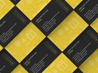 Fitness Now Cards branding logo business cards weights patternwork pattern gym fitness