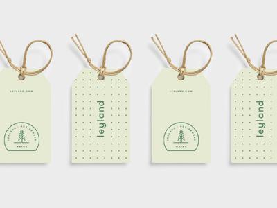 Leyland Hang Tags branding tag fitness clothing apparel spirit marks tree mark maine leyland