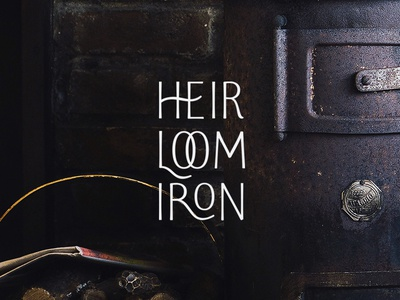 Heirloom Iron Stacked Logo heirloom iron brand typography letters stacked logo design logo